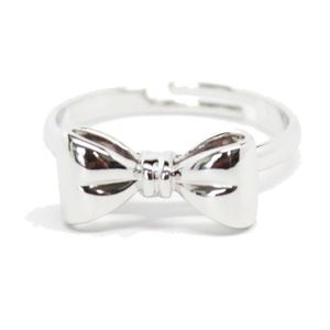 Silver Adjustable Bow Ring